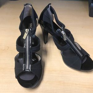 Michael Kors Berkeley T Strap Heels in Black